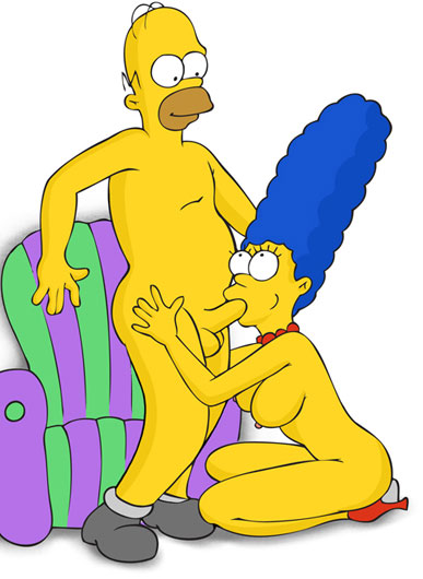 Marge and Homer having sex
