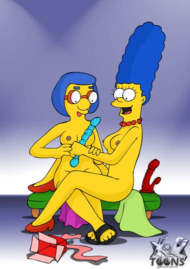 Marge and Milhouse's mom naked