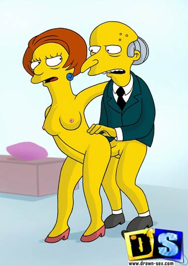 Mrs. Crabapple fucked by Mr. Burns
